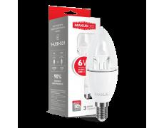 LED лампа C37 6W яркий свет 220V E14 (1-LED-532) (NEW)